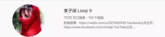李子柒在某海外视频平台上的粉丝数是735万