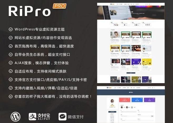 WordPress主题#免费下载WordPress主题RiProV4.9.0无限制版本(学习包)
