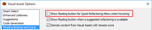 Disable floating button