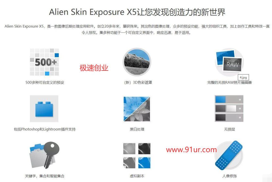 PS精品插件#Phhotoshop顶级插件 Alien Skin Exposure X5.0中文破解版-绿色版3