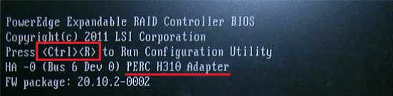 怎么查看 dell 阵列卡型号#如何通过服务器自检画面的信息查看当前阵列卡的型号