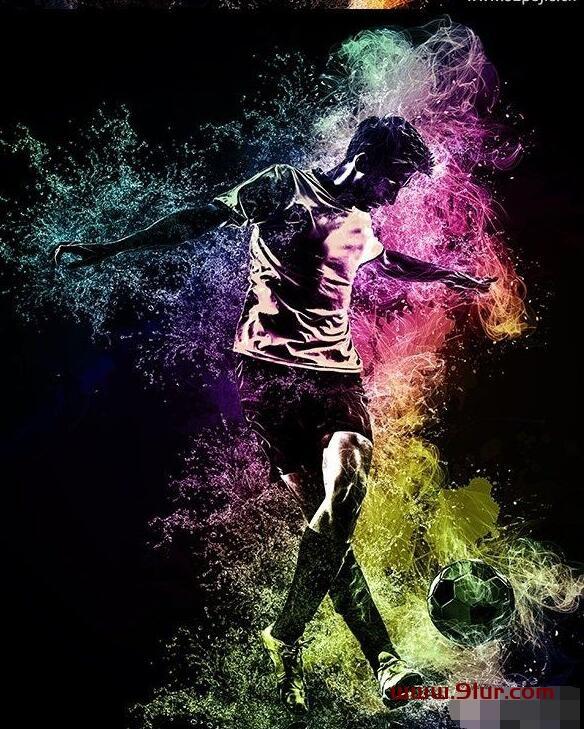 PS动作#Adobe Photoshop人物照片一键添加炫酷的水火交融背景效果0102