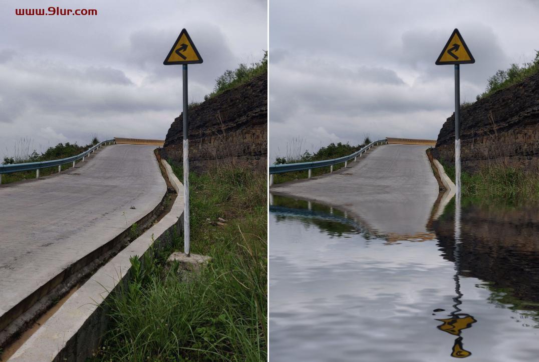 dobe Photoshop 2020插件#PS滤镜插件【水之语】一键水面倒影#Photoshop水中倒影插件