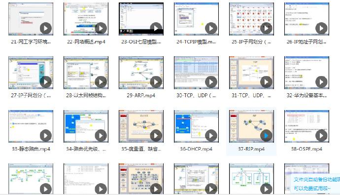 华为认证-HCNA+HCNP实战型网络工程师全套视频课程-附带华为模拟器+视频笔记