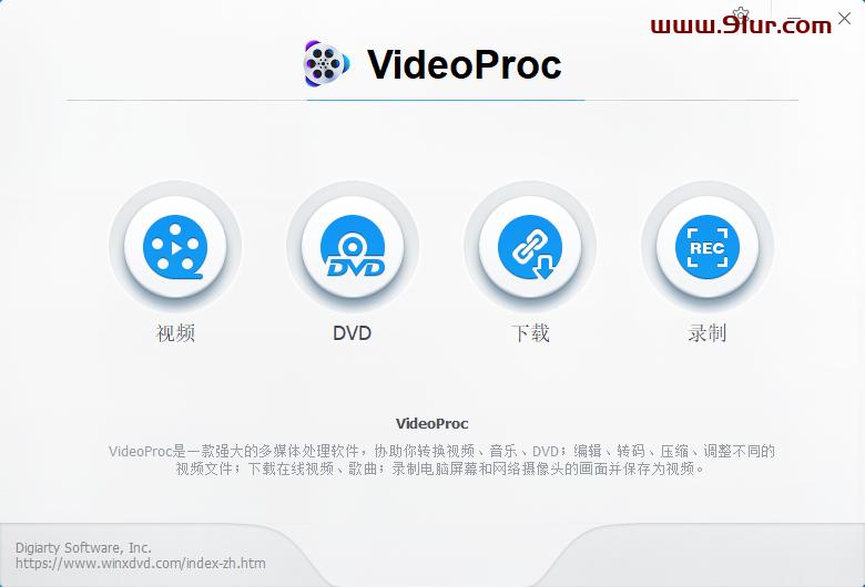 视频格式转换软件#VideoProc v3.9中文绿色便携版v1(4K视频处理转换工具)#mkv转mp4#视频剪辑软件