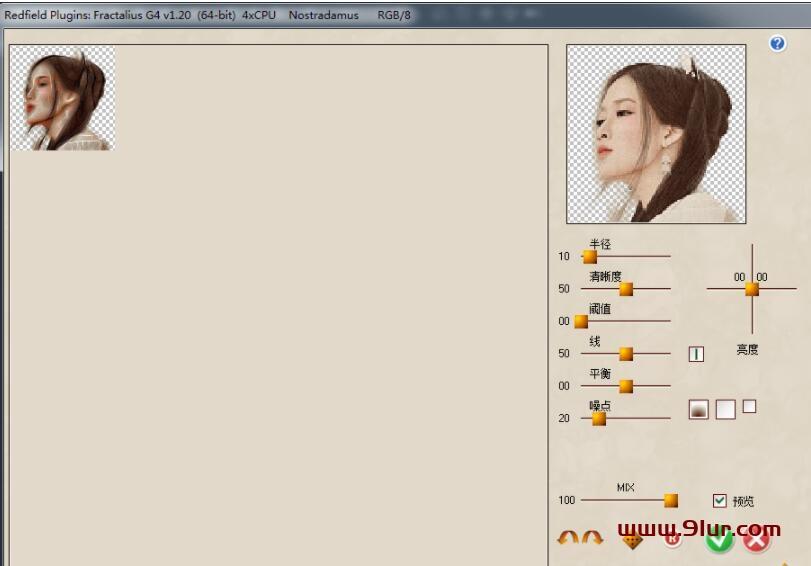 PS滤镜插件汉化: Redfield 系列最新破解汉化版 仿手绘+素描+线之绘+抽象+矩阵拼贴01