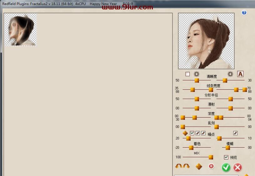 PS滤镜插件汉化: Redfield 系列最新破解汉化版 仿手绘+素描+线之绘+抽象+矩阵拼贴0102