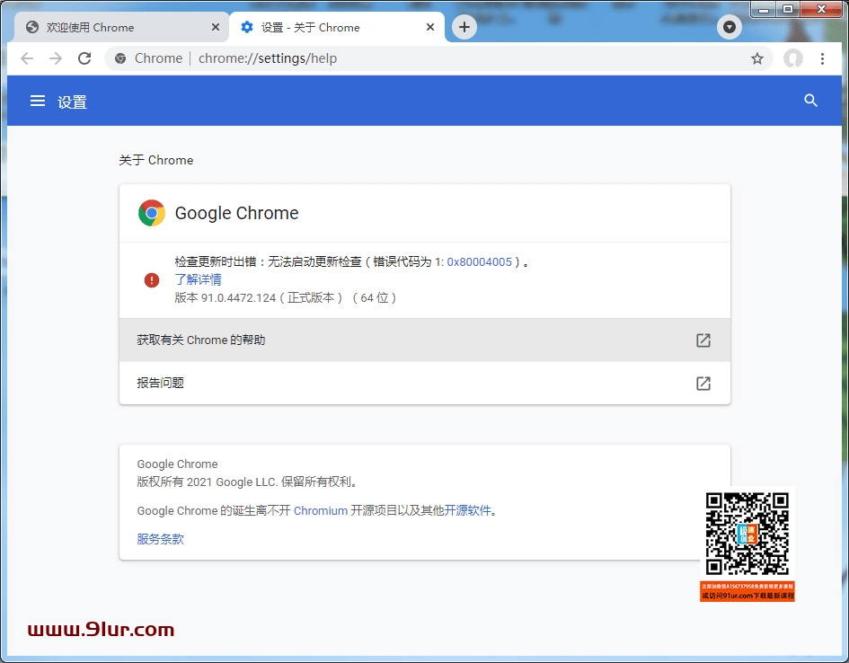 Google Chrome 浏览器 91.0.4472.124.x64 中文绿色便携稳定共存版